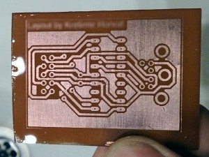 PCB after etching