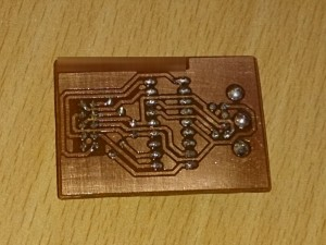 PCB after soldering