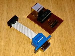 Finished adapter with DB9 ribbon cable