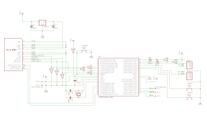 Board schematic using LMT1117T voltage regulator
